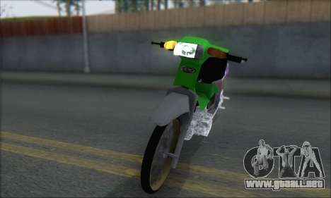 Kawasaki Kaze R para GTA San Andreas vista posterior izquierda
