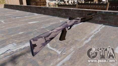 Ружье Benelli M3 Super 90 azul tigre para GTA 4 segundos de pantalla