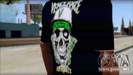 A7X New T-Shirt para GTA San Andreas tercera pantalla
