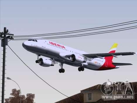 Airbus A320-214 Iberia para la vista superior GTA San Andreas