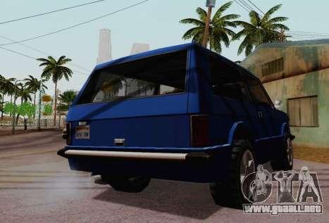Huntley Coupe para visión interna GTA San Andreas