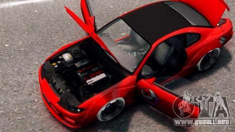 Nissan Silvia S15 Street Drift para GTA 4 Vista posterior izquierda