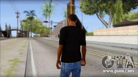 Chicago Bulls Black T-Shirt para GTA San Andreas segunda pantalla