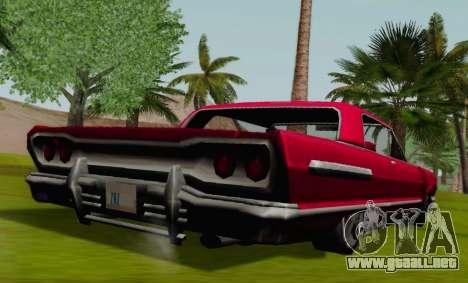 Savanna Coupe para GTA San Andreas vista posterior izquierda