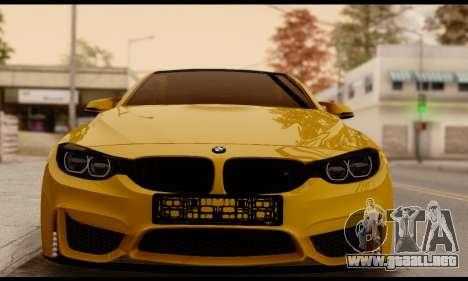 BMW M4 para GTA San Andreas vista posterior izquierda