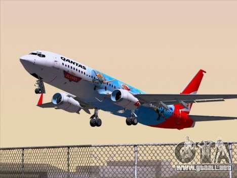Boeing 737-800 Qantas para vista lateral GTA San Andreas