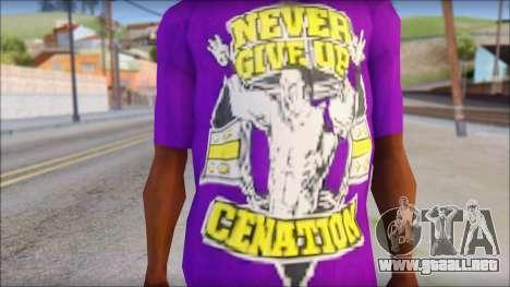 John Cena Purple T-Shirt para GTA San Andreas tercera pantalla