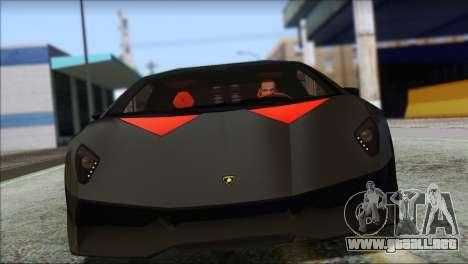 Lamborghini Sesto Elemento Concept 2010 para GTA San Andreas left
