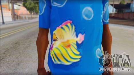 Fish T-Shirt para GTA San Andreas tercera pantalla