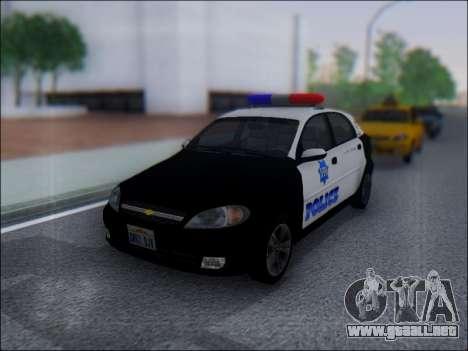 Chevrolet Lacetti Police para GTA San Andreas left