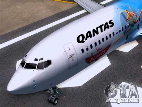 Boeing 737-800 Qantas para vista inferior GTA San Andreas