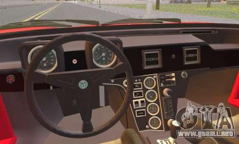 De Tomaso Pantera para GTA San Andreas vista posterior izquierda