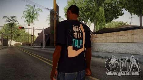 Babaji ka thullu T-Shirt para GTA San Andreas segunda pantalla