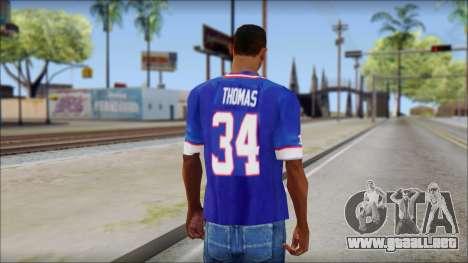 NY Buffalo Bills Blue para GTA San Andreas segunda pantalla