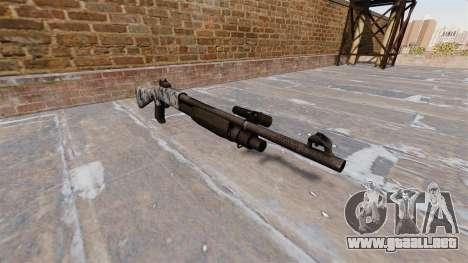 Ружье Benelli M3 Super 90 calaveras para GTA 4