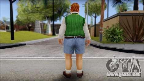 Algernon from Bully Scholarship Edition para GTA San Andreas segunda pantalla