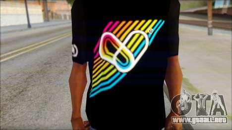 I Love Electro T-Shirt para GTA San Andreas tercera pantalla