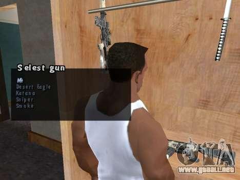 El caso de armas para GTA San Andreas segunda pantalla
