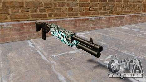 Ружье Franchi SPAS-12 Aqua Camo para GTA 4
