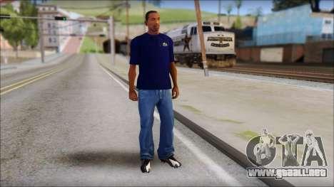 Blue Izod Lacoste Polo Shirt para GTA San Andreas tercera pantalla