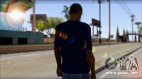 Blue Izod Lacoste Polo Shirt para GTA San Andreas segunda pantalla