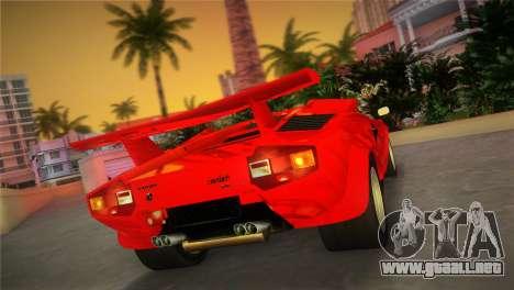 Lamborghini Countach LP5000 QV TT Custom para GTA Vice City left