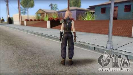 Final Fantasy XIII - Lightning Lowpoly para GTA San Andreas segunda pantalla