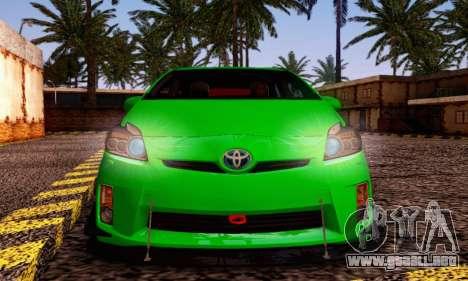 Toyota Prius Tunable para GTA San Andreas vista posterior izquierda