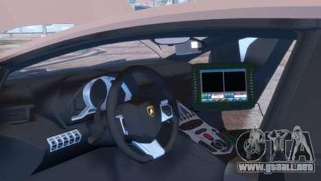 Lamborghini Aventador LP700-4 para GTA 4 vista lateral