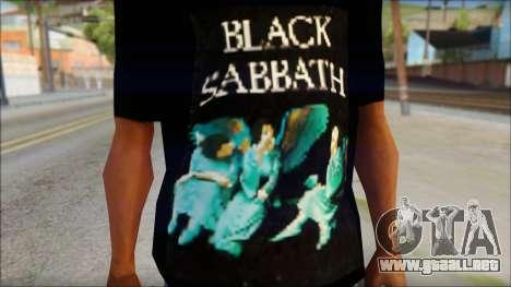 Black Sabbath T-Shirt v1 para GTA San Andreas tercera pantalla