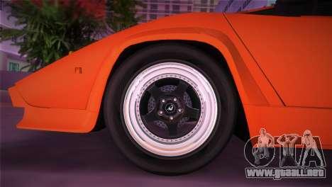 Lamborghini Countach LP5000 QV TT Custom para GTA Vice City visión correcta
