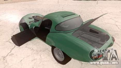 Jaguar E-Type para GTA San Andreas vista hacia atrás