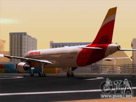 Airbus A320-214 Iberia para la visión correcta GTA San Andreas