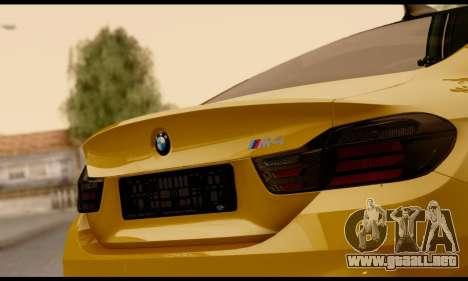 BMW M4 para visión interna GTA San Andreas