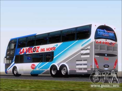 Metalsur Starbus DP 1 6x2 - La Veloz del Norte para GTA San Andreas vista posterior izquierda
