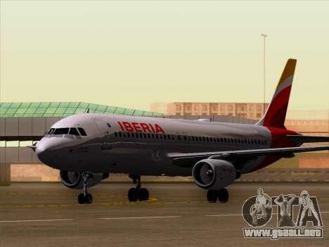 Airbus A320-214 Iberia para GTA San Andreas left