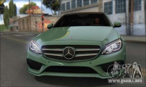 Mercedes-Benz C250 V1.0 2014 para GTA San Andreas vista posterior izquierda