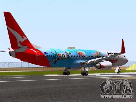 Boeing 737-800 Qantas para la visión correcta GTA San Andreas