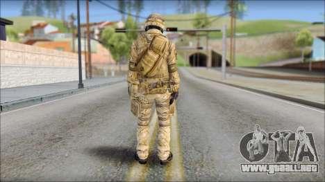 Desert SAS from Soldier Front 2 para GTA San Andreas segunda pantalla