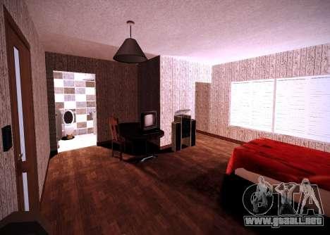 El interior de la vivienda para GTA San Andreas