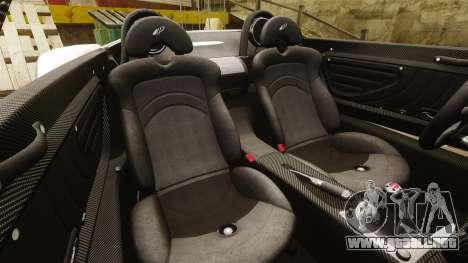 Pagani Zonda C12S Roadster 2001 v1.1 PJ3 para GTA 4 vista lateral