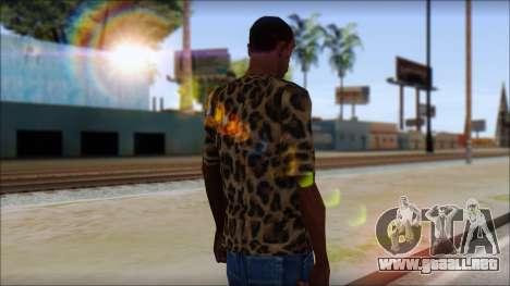 Tiger Skin T-Shirt Mod para GTA San Andreas segunda pantalla