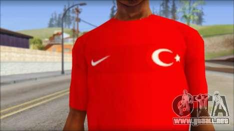 Turkish Football Uniform v4 para GTA San Andreas tercera pantalla