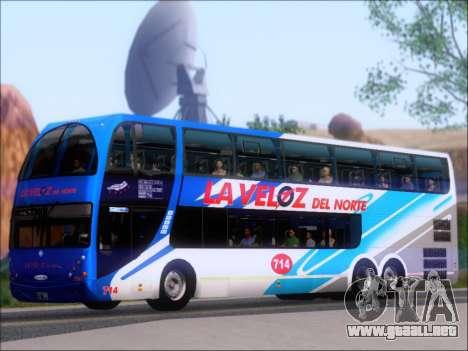 Metalsur Starbus DP 1 6x2 - La Veloz del Norte para GTA San Andreas vista hacia atrás