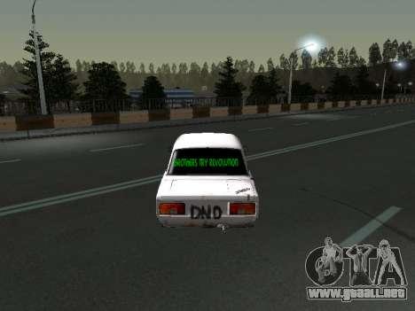 VAZ 2107 Vagabundo para la visión correcta GTA San Andreas