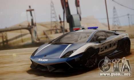 Lamborghini Gallardo LP 570-4 2011 Police v2 para GTA San Andreas left