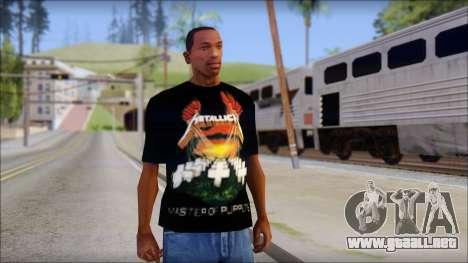 Metallica Master Of Puppets T-Shirt para GTA San Andreas