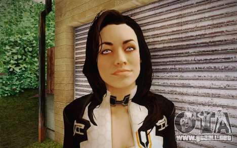 Miranda from Mass Effect 2 para GTA San Andreas tercera pantalla