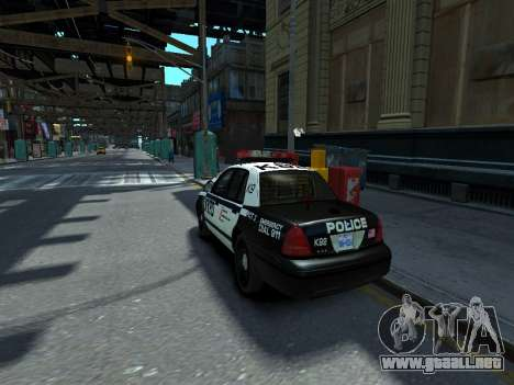 Ford Crown Victoria Police NYPD 2014 para GTA 4 left
