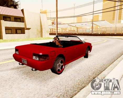 El Sultán Convertible para GTA San Andreas vista posterior izquierda